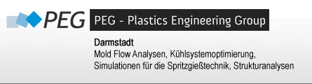 PEG Plastics Engineering Group, Darmstadt, Mold Flow Analysen, Simulation für die Spritzgießtechnik